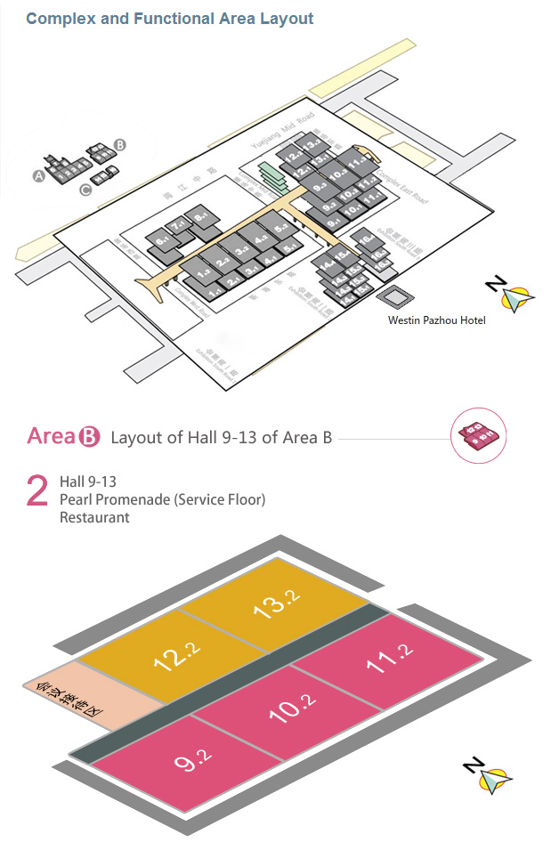 Plan of the halls